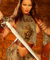 Kayla Cole the lion tamer in erotic armor