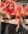 Goth babe Annalee Belle in hot black lingerie